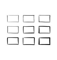 Hand-drawn rectangles set vector