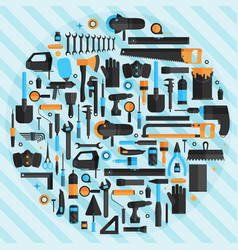 Hand tools background flat design eps10 format vector