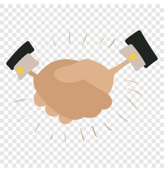 Handshake cartoon vector