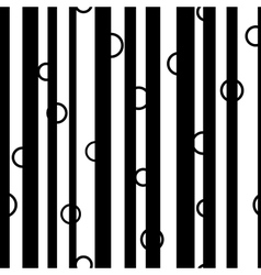 Line and circle chaotic seamless pattern 6008 vector image vector image