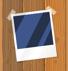 photo frame on the board vector image