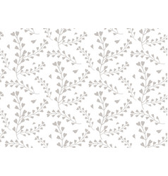 seamless pattern of windflower pickpurse vector image