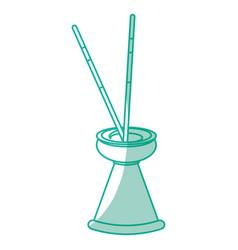 Spa incense aroma teraphy vector