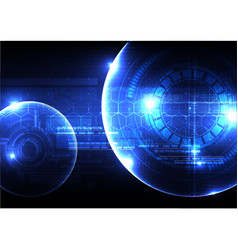 technological security scanning hud display space vector image