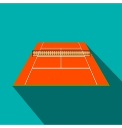 Tennis court flat icon vector