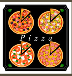 the pizza vector image