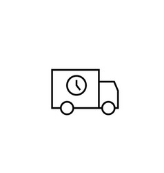 timed delivery truck vector image vector image
