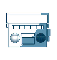 Vintage stereo radio music audio vector
