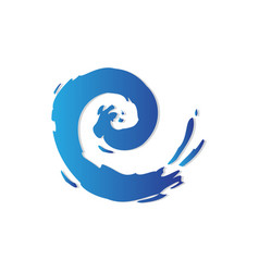 water wave logo vector image vector image