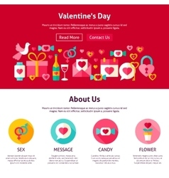 Web design valentine day vector