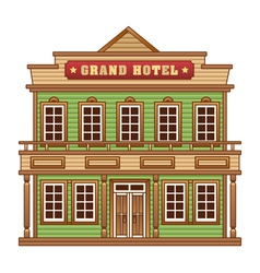 Wild West grand hotel vector image vector image