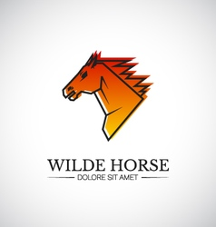 Wilde horse head logo template vector