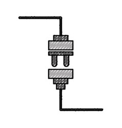 wire cable connector icon vector image