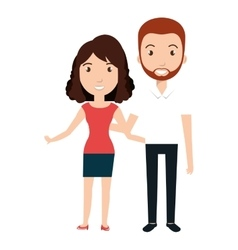 Young couple teacher character vector
