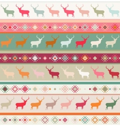 Norwegian christmas seamless pattern vector
