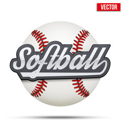 Softball circle symbol vector
