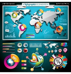 Design set of infographic elements vector
