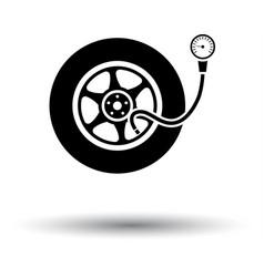 Tire pressure gage icon vector