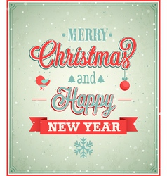 Merry christmas typographic design vector