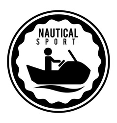 Nautical sport vector