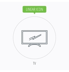 Lcd tv icon led monitor sign vector