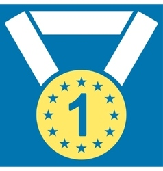 First medal icon from competition  success vector