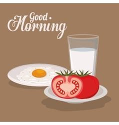 Good morning breakfast design vector