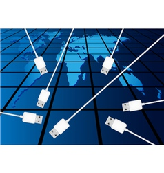 connecting vector image