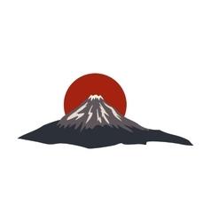 The sacred mountain of Fuji Japan icon vector image