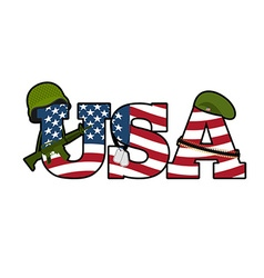 US Army symbol Military Emblem Of America American vector image