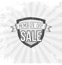 Memorial Day Sale Shield and Ribbon vector image