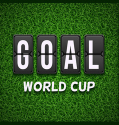 Goal scoreboard football soccer concept vector