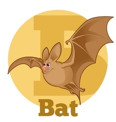 Abc cartoon bat vector