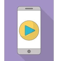 Smartphone and play icon music online and vector