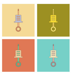 Assembly flat icons kids toy syringe vector