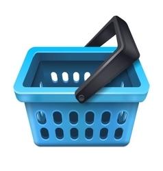 Blue shopping basket icon 10eps vector