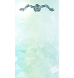 Breaststroke swimmer female silhouette sport vector