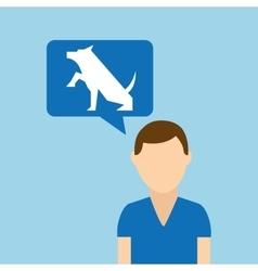 character pet training dog shake hand vector image vector image