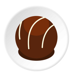 Chocolate candy icon circle vector
