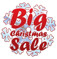 Christmas sales with snowflake vector image