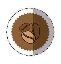 coffee grains icon image vector image vector image