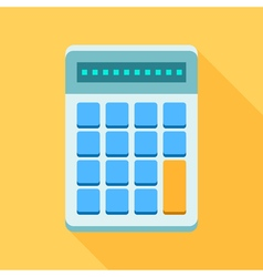 Colorful calculator icon in modern flat style with vector image
