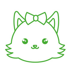 Cute and tender female fox kawaii style vector