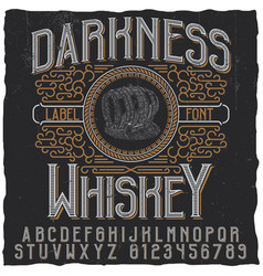 Darkness whiskey poster vector