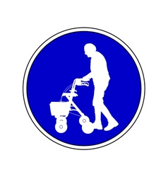 Elderly people permitted vector