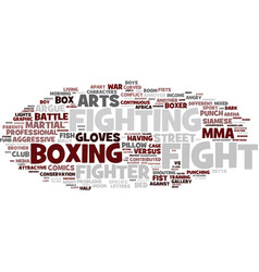 Fight word cloud concept vector