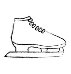 Ice skates isolated vector