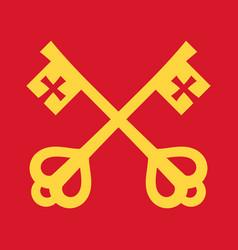 keys of saint peter keys to the kingdom of heaven vector image