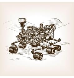Mars rover sketch vector