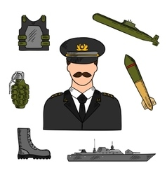 Military man sketch for armed forces design vector